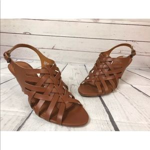 Ellen Tracy Brown Sandals Heels 9.5 New ET-Sonoma
